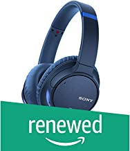 Sony WH-CH700N Wireless Bluetooth Noise Canceling Over the Ear Headphones with Alexa Voice Control – Blue (Renewed)
