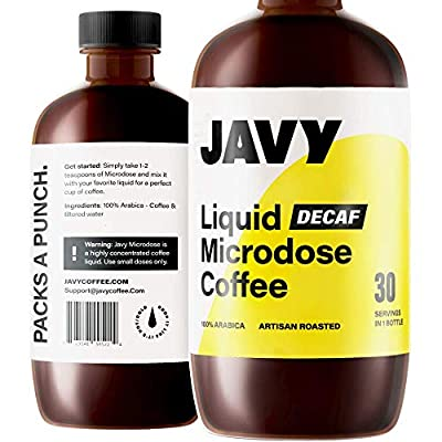 Javy Coffee Microdose 30X Cold Brew Decaf Concentrate, Artisan Roasted, Liquid Coffee Concentrate, Cold Brew Coffee Arabica, Unsweetened Iced Coffee & Cold-Brew, Concentrated Cold Brew Coffee