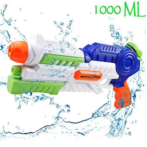 infinitoo Pistolet à Eau pour Enfants Puissant Jet d'eau d'une portée maximale de 8 à 10 m, Longue Distance de...