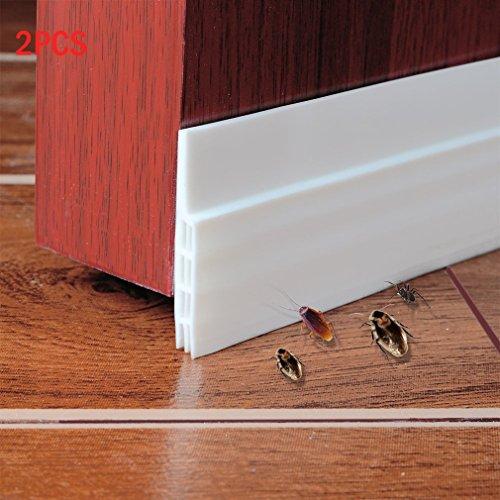 Abseed 2 Stücke Türdichtung Tür-Boden-Dichtungs-Streifen Schalldichtung Fensterdichtung Warme und Kälte Blocker wasserdichtes Tür-Siegel-Abisolieren 100 x 5cm (Weiß)