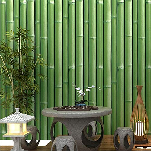 PoetryHome Self Adhesive Vinyl Bamboo Contact Paper Wallpaper for Walls Kitchen Backsplash Bathroom Cabinets Shelves 17.7x117 Inches