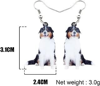 IUTING Australian Shepherd Dog Earrings Dangle Drop Animal Jewelry