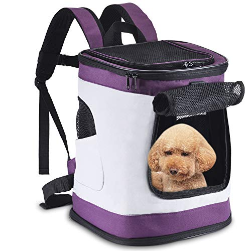 Pettom Pet Backpack Soft Sided Dog Carrier Cat Dog...