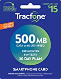 Tracfone Smartphone Service Plan - 30 Days, 500MB Data, 200 Minutes, 500 Texts (Mail Deliv...