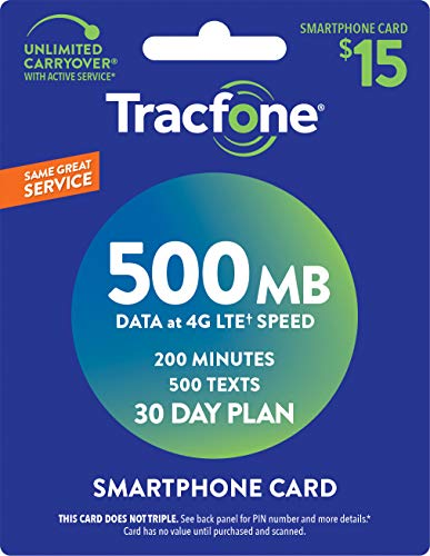 Tracfone Smartphone Service Plan - 30 Days, 500MB Data, 200 Minutes, 500 Texts (Mail Delivery) New York
