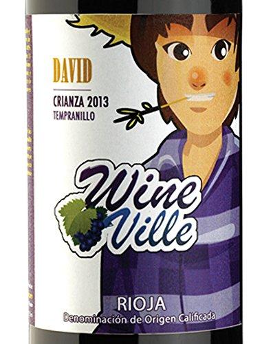 Vino Tinto Rioja Crianza 2013, David de Wine Ville. Tempranillo 15 meses de Barrica, 13.5 grados alcohólicos. Botella 75cl