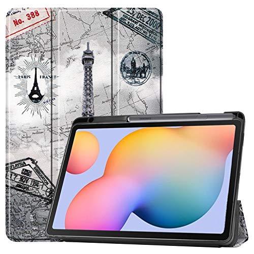 NUPO Funda para Samsung Galaxy Tab S6 Lite 10.4 2020, Slim Cover con Stifthalter Carcasa PU Lederhülle con Standfunktion, Sleep Wake Up compatible Galaxy Tab S6 Lite 10.4 SM-P610/P615 Color05