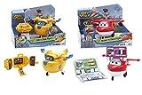 Super Wings - Pack 2 Robot parlantes: Jett Scan'n Talk Flyer + Donnie Tilt'n Talk Flyer.