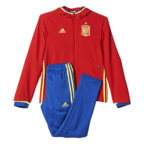adidas Jungen Trainings/Präsentations-anzug UEFA Euro 2016 Spanien, Scarle/Byello/Croyal, 176, AI4845