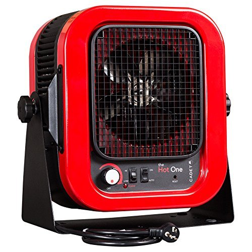 Cadet RCP402S Space Heater,'The Hot One' Portable with Bracket, 4000W, 20 Amp, Red