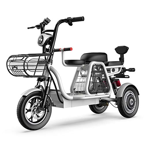 DYHQQ Triciclo eléctrico Plegable Scooter de Viaje de Ocio al Aire Libre 48V10A Vida útil de la batería de Litio 45 km para Damas/Ancianos Triciclo eléctrico discapacitado