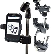 ChargerCity Music Mic Microphone Stand Smartphone Clamp Mount with 360° Swivel Holder for Apple iPhone 11 Pro XR XS MAX X 8 7 Plus Samsung Galaxy S9 S10 Note Moto Droid LG G8 phones