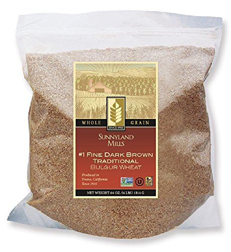 #1 Fine Brown Bulgur Wheat, 4lbs (2 Pack)