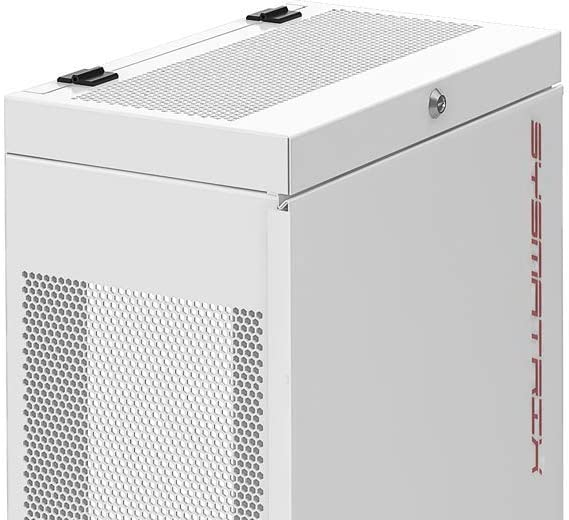6U Vertical Wall Mount Rack Enclosure 35 Inch Depth Network Server Data Cabinet