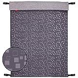 ByBoom - Softshell Decke 70x100 cm Thermo Aktiv; Funktions-/Universal-/Outdoor-Babydecke für Kinderwagen, Buggy, Jogger, Farbe:Schwarz/Aqua