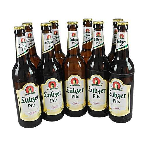 Lübzer Pils (9 Flaschen à 0,5 l / 4,9% vol.)