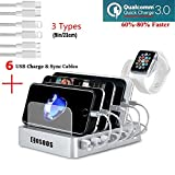 COSOOS Fastest Charging Station with Quick Charge 3.0, 6 Phone Charger...