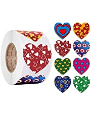 jingjing 2021 Nieuwe Gift - 500 stks Liefde Hartvormige Label Sticker Decoratieve Pakket Seal Tape (CQ17)