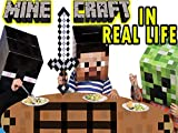 Minecraft in Real Life. Dinner with a Creeper