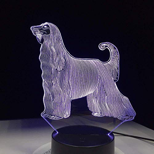 3D Illusion Night Light bluetooth smart Control 7&16M Color Mobile App Led Vision The Most Beautiful Dog of All World Tea Table USB Home Living Room Decor colorful Creative gift