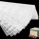 Nothers GZcaiyun 8 STK Quadratische Silikon Dehydrator Blätter,Antihaft Lebensmittel Dehydrator Matten Wiederverwendbar,für Lebensmittel,Obsttrockner(37×28.5cm)