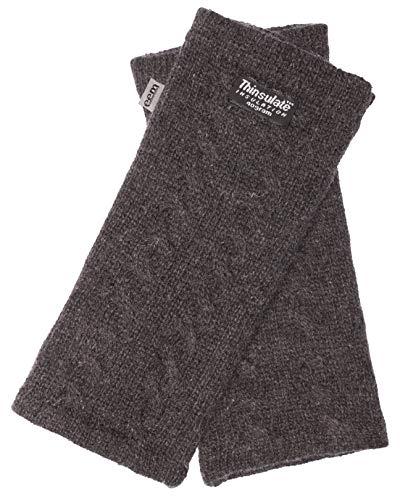 EEM Damen Strick Wollstulpe Pulswärmer DIANA mit Thinsulate Thermofutter aus Polyester, Strickmaterial aus 100% Wolle; anthrazit