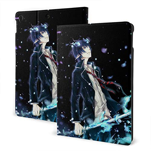 Abstract Bl-Ue Exor-Cist Ipad Case TPU Shell Ultra-Thin Lightweight Vertical Protective Jacket Automatic Wake Sleep Cover