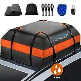 Weanas ルーフバッグ 収納バッグ 折り畳み 取付簡単 359L 防水 防雨 防雪 防風 アウトドア SUV コンパクト クリーニングクロス付き