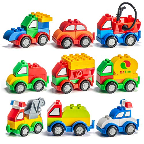 Product Image of the Prextex 60 Pieces Build Your Own Toy Cars Set Building Blocks Building Bricks