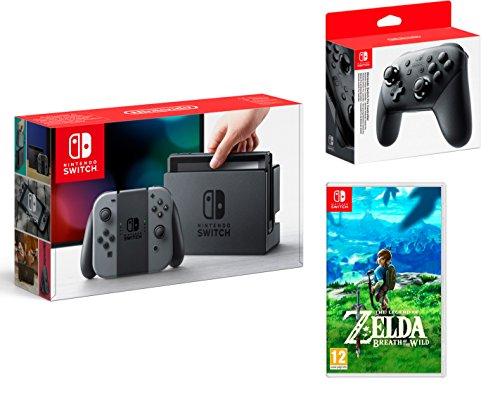 Nintendo Switch consola 32Gb Gris + The Legend of Zelda: Breath of the Wild + Nintendo Pro Controller