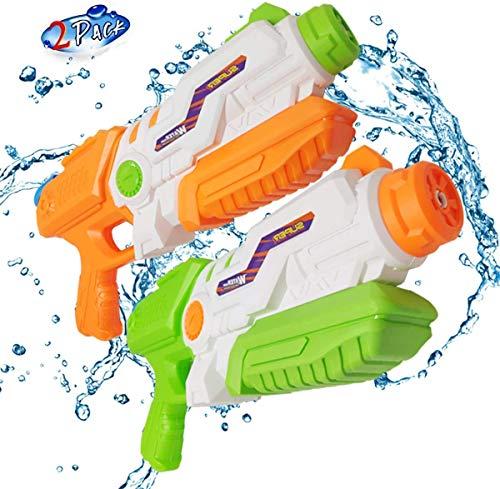 Water Gun for Kids, ALZERO Squirt Guns of 2 Packs, 1200CC High Capacity & 35 Feet Shooting Range Water Blasters, Best Swimming Pool Toys for Kid& Adult
