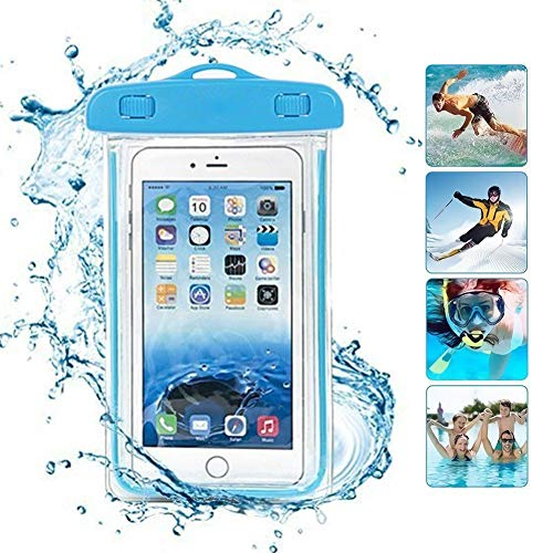 ONX3 Baby Blue Universal wasserdichte Handy Strand Pool Regen Dokument Wertsachen Schutzhülle Tasche Kompatibel mit Lenovo Vibe Shot