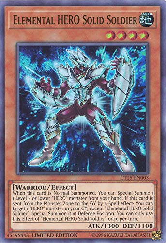 Elemental HERO Solid Soldier - CT15-EN003 - Ultra Rare - Limited Edition