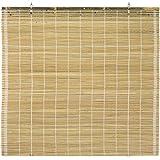 ORIENTAL Furniture Burnt Bamboo Cordless Window Shade - Natural 24' W