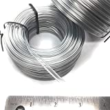 100FT(30m) Plastic Clear Double Wire Spool - for Nose Bridge Strips, Flat Plastic Strips Straps Adjustable Nose Clips Wire for Sewing Crafts