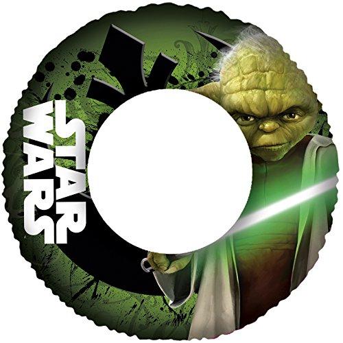 Unbekannt Star Wars aufblasbarer Schwimmring Jedi Meister Yoda 65 cm Durchmesser • Schwimmhilfe Wasser Spielzeug Kinder Wasserspaß Strand