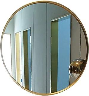 Espejos de Aumento de Pared Espejo De Baño Redondo De Hierro Forjado Montado En La Pared Espejo De Dormitorio Aparador Esp...
