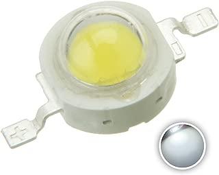 Chanzon 10 pcs High Power Led Chip 1W White (6000K-6500K/300mA-350mA/DC 3V-3.4V/1 Watt) Super Bright Intensity SMD COB Light Emitter Components Diode 1 W Bulb Lamp Beads DIY Lighting