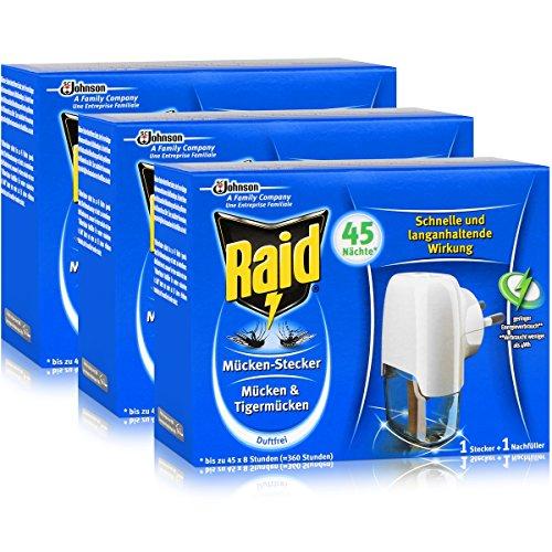 Raid Mücken Stecker für ca. 45 Nächte Mücken 3er pack