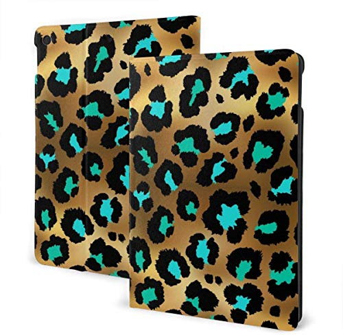 Seamless Abstract Floral Pattern Case for New IPad 7th Generation 10.2 Inch 2019 Multi-Angle Viewing Folio Smart Stand Cover Auto Wake/Sleep for IPad 10.2' Tablet-Seamless Golden Leopard Pattern-One