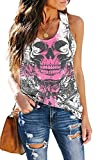 ETCYY Women's Sleeveless Workout Yoga Tank Tops Loose Cute Printed Running Sports Athletic T Shirts