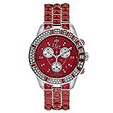 Dior Christal Rouge Diamant chronographe Cadran montre femme Cd11431fm002