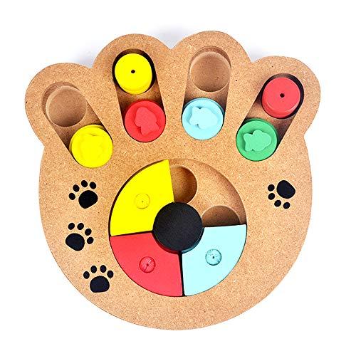 Andiker Shuffle Bone Puzzle Speelgoed, Verbergen en Zoeken Voedsel Behandelde Trein Verspreiding Puzzel Intelligentie Training Feeder Dispenser, Huisdier Puzzel Behandel Speelgoed Kan Verbetering Hond Intelligentie (bot), Claw