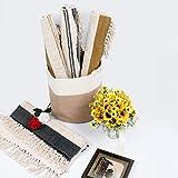 U'Artlines Teppiche aus Baumwolle Maschinenwaschbare mit Quaste Gewebte Baumwolle Wurf Teppiche Läufer für Küche, Wohnzimmer, Schlafzimmer, Waschküche, Eingangsbereich(60 * 130 Gelb) - 4