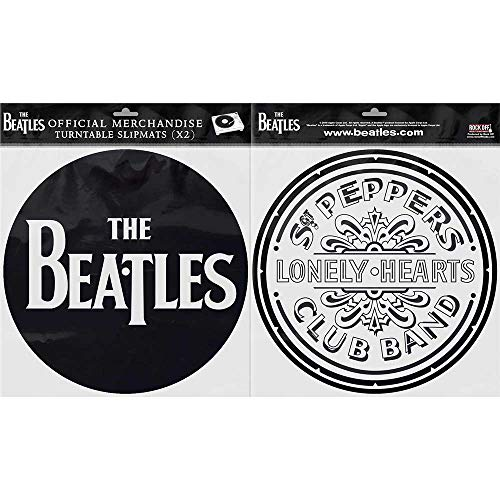 The Beatles Officiële Sgt Pepper Drum En Drop T Logo Zwarte Slipmatten Draaitafel DJ