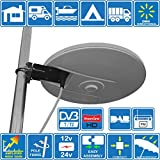 HELIO-MAGNET Antenna TV HD Digitale Omnidirezionale ad Alto Guadagno con Amplificatore Incorporato...