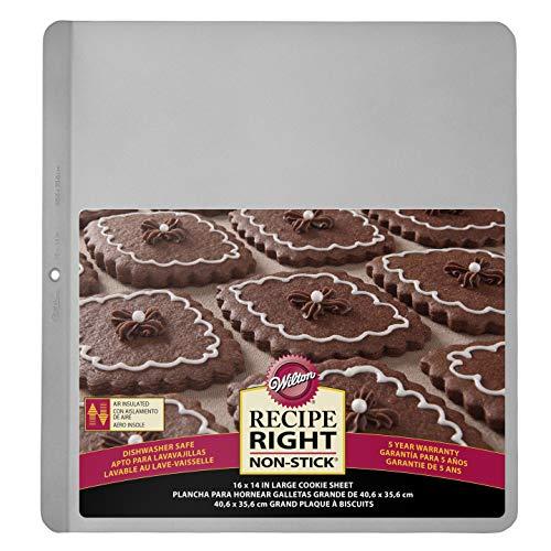 Wilton Keks-/ Plätzchen-Backblech, Recipe Right, Edelstahl, Isoliert, 40,6 x 35,6 cm