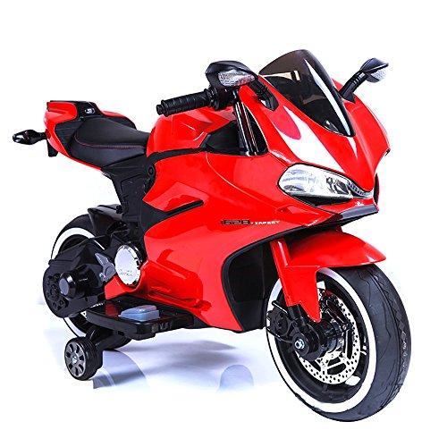 star kids Moto Motocicletta Elettrica Per Bambini 6V Strada Rossa