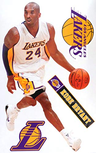 Kobe Bryant FATHEAD Los Angeles Lakers Logo Set Official NBA Vinyl Wall Graphics 17' INCH
