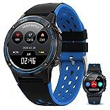 QIXIAOCYB Intelligente Uhr mit GEOGRAPHISCHES POSITIONIERUNGS System/Bluetooth-Anruf/Herzfrequenz/Schlafmonitor Multi Sport Modes Aktivität Tracker für Frauen Männer (Color : Green)